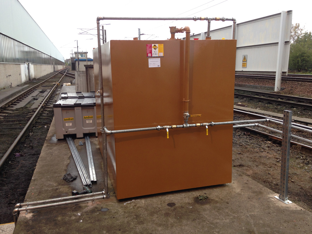 Compliant storage of recovered diesel, ready for reuse.