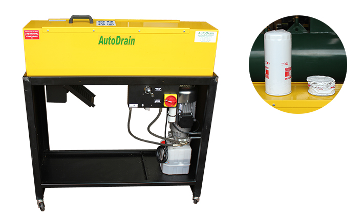 Image of AutoDrain Oil Filter Crusher | Fast, Compliant Oil Filter Crusher